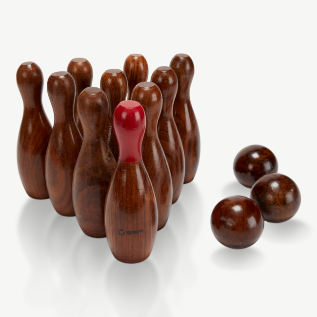 Ubergames Uber Rosewood Bowling - Luxe uit exclusief Indiaas hout