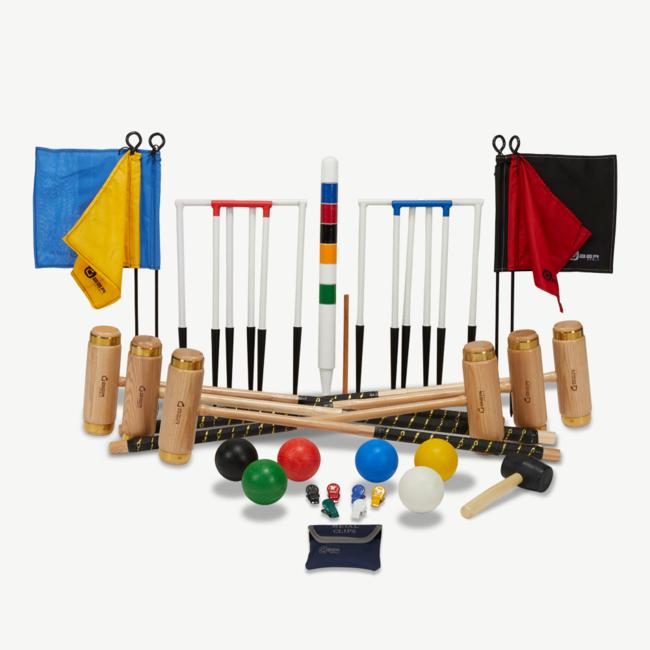 Ubergames Ultieme Executive Croquet set, 6-persoons Croquet Spel
