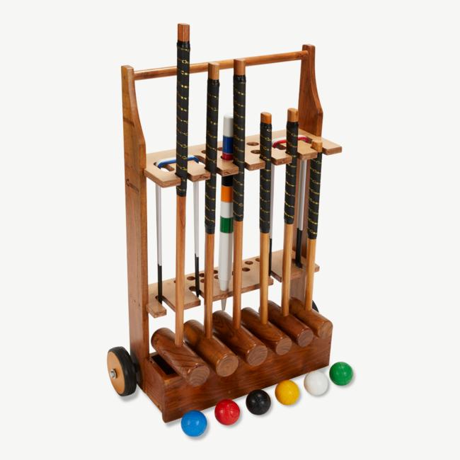Ubergames Familie-Croquet set - Hardhout - 6-persoons Krocket spel