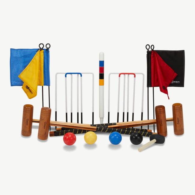Ubergames Originele Engelse Tuin Croquet Set - 4-persoons krocket spel