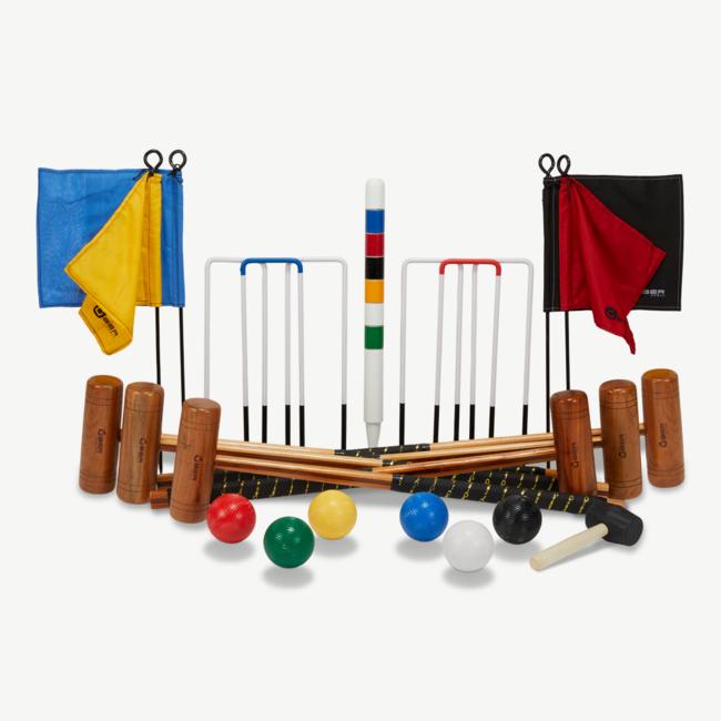 Ubergames Origineel Engelse Tuin-Veld Croquet set, 6 persoons