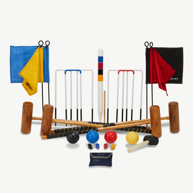 Ubergames Professionele Croquet set, 4-persoons - Made in India