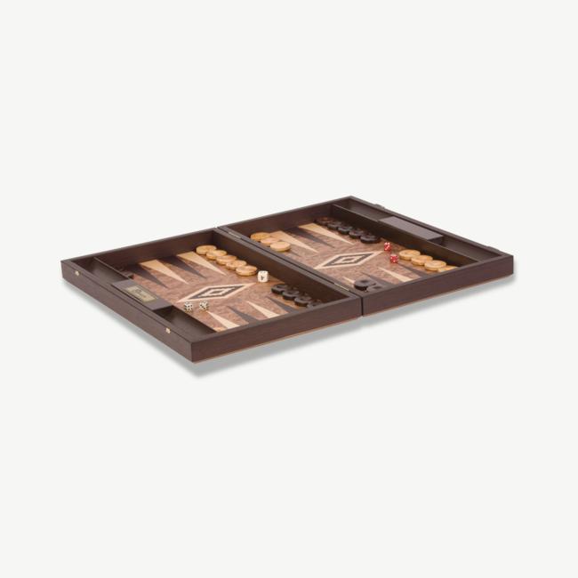 Ubergames Uber Walnoot houten Exclusieve Backgammon Set