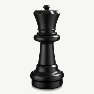 Ubergames Schaakstuk, Koningin 60 cm, wit of zwart