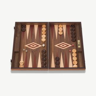 Ubergames Exclusief backgammon spel, Handgemaakt, rode accenten