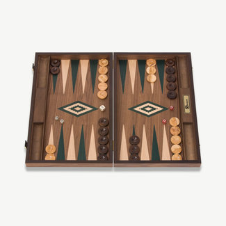 Ubergames Exclusief backgammon spel, Handgemaakt, groene accenten