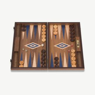Ubergames Exclusieve backgammon set, Handgemaakt, blauwe accenten