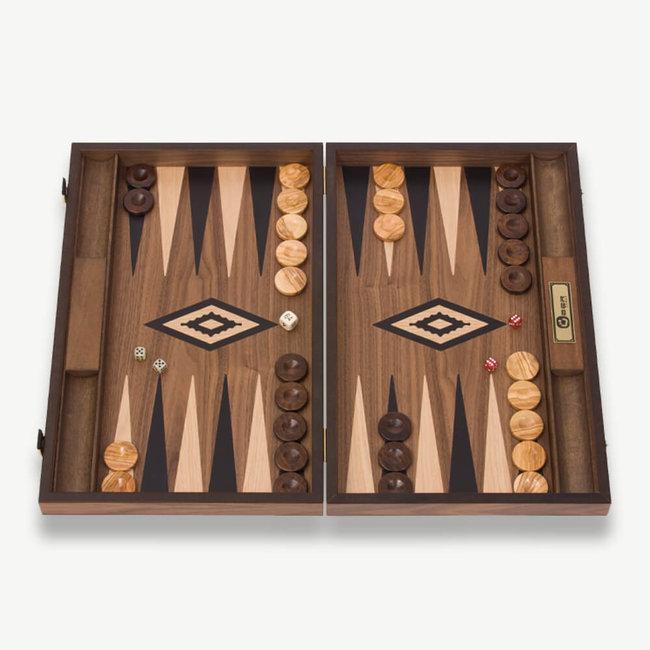 Ubergames Exclusief backgammon spel, Handgemaakt, zwarte accenten