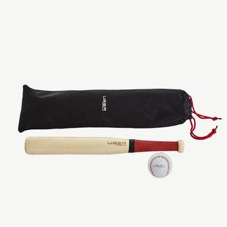 Ubergames Slagbal Rounder Bat & Ball in nette tas