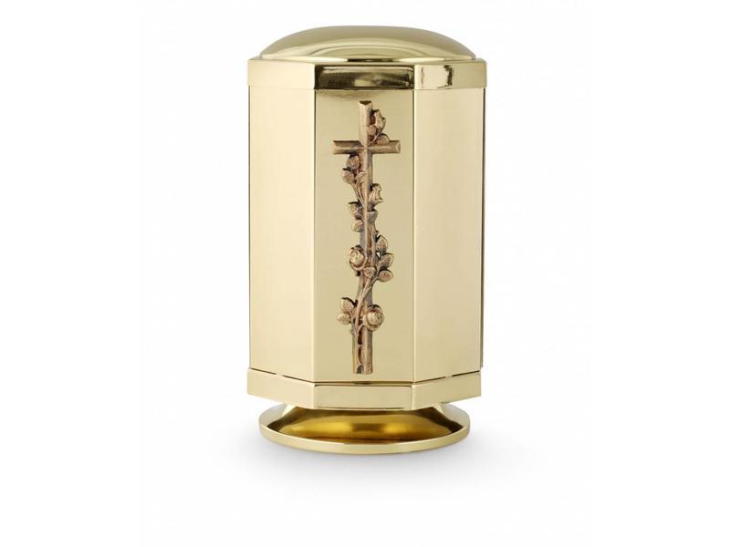 Rozenkrans urn gepolijst - Messing