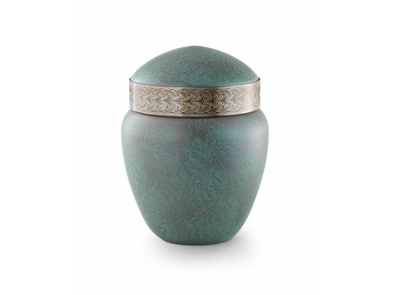 Keltische urn koper patina - koper