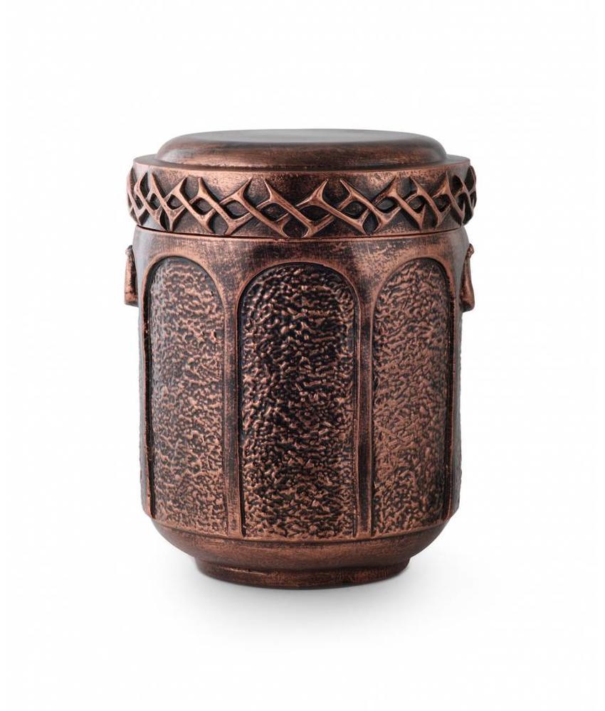 Keramische urn met doornenreliëf - Keramiek