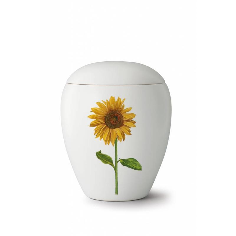 Bianco zonnebloem urn - Keramiek