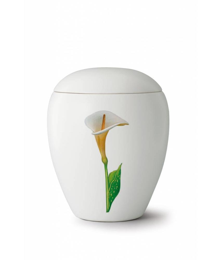 Bianco calla urn - Keramiek