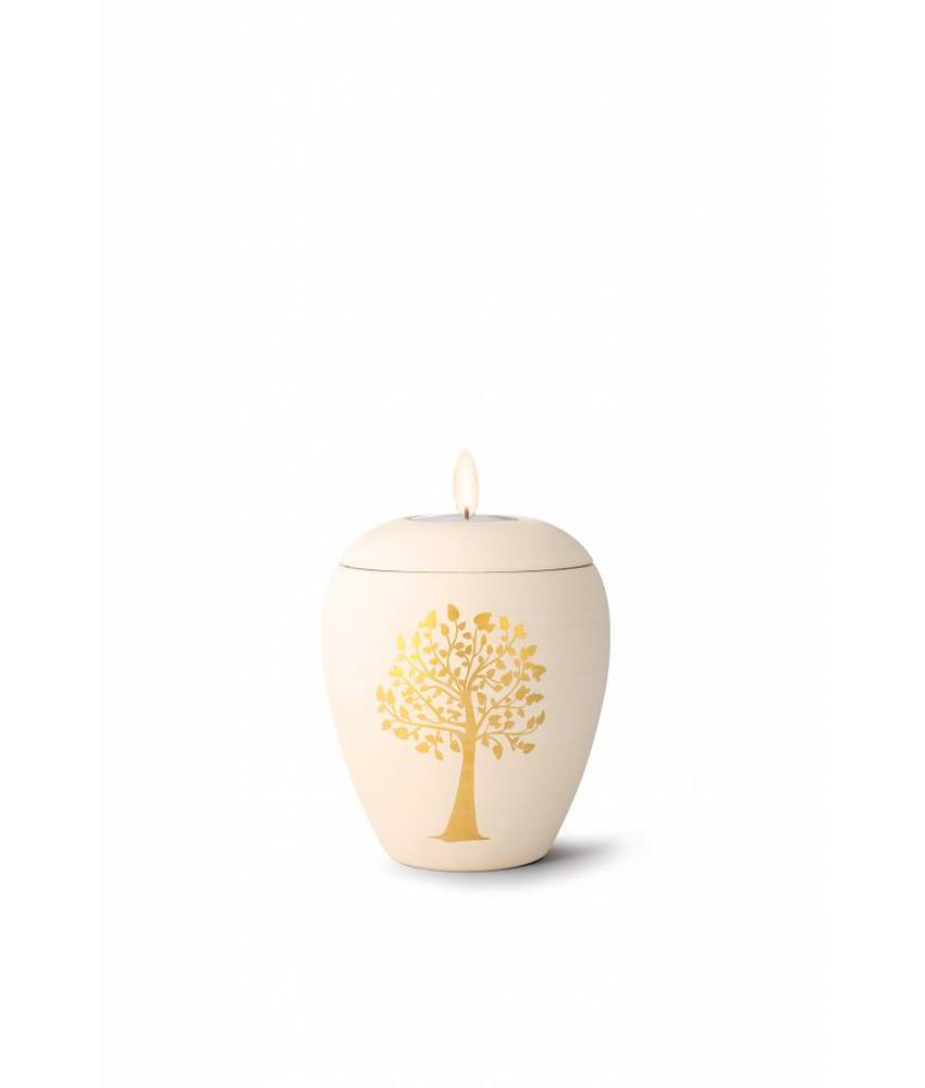 Mini siena boom urn met lichtje - Keramiek