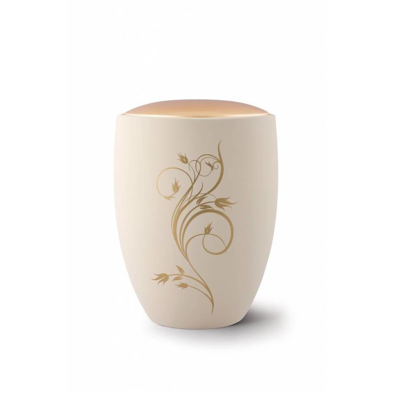 Sevilla flora urn creme - Keramiek