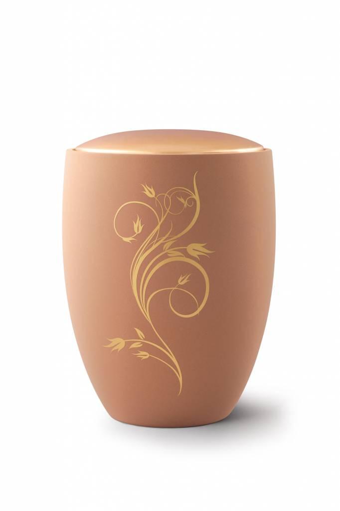 Sevilla flora urn zandkleur - Keramiek