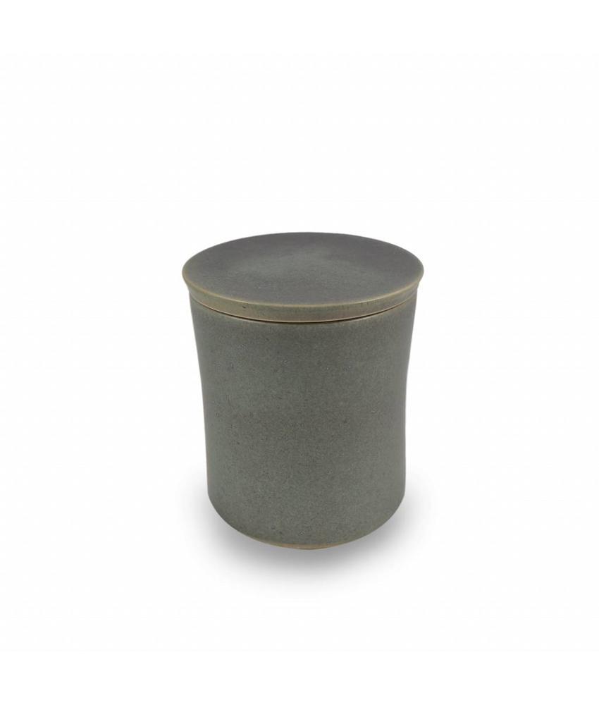 Keramische urn getailleerd klein celadon