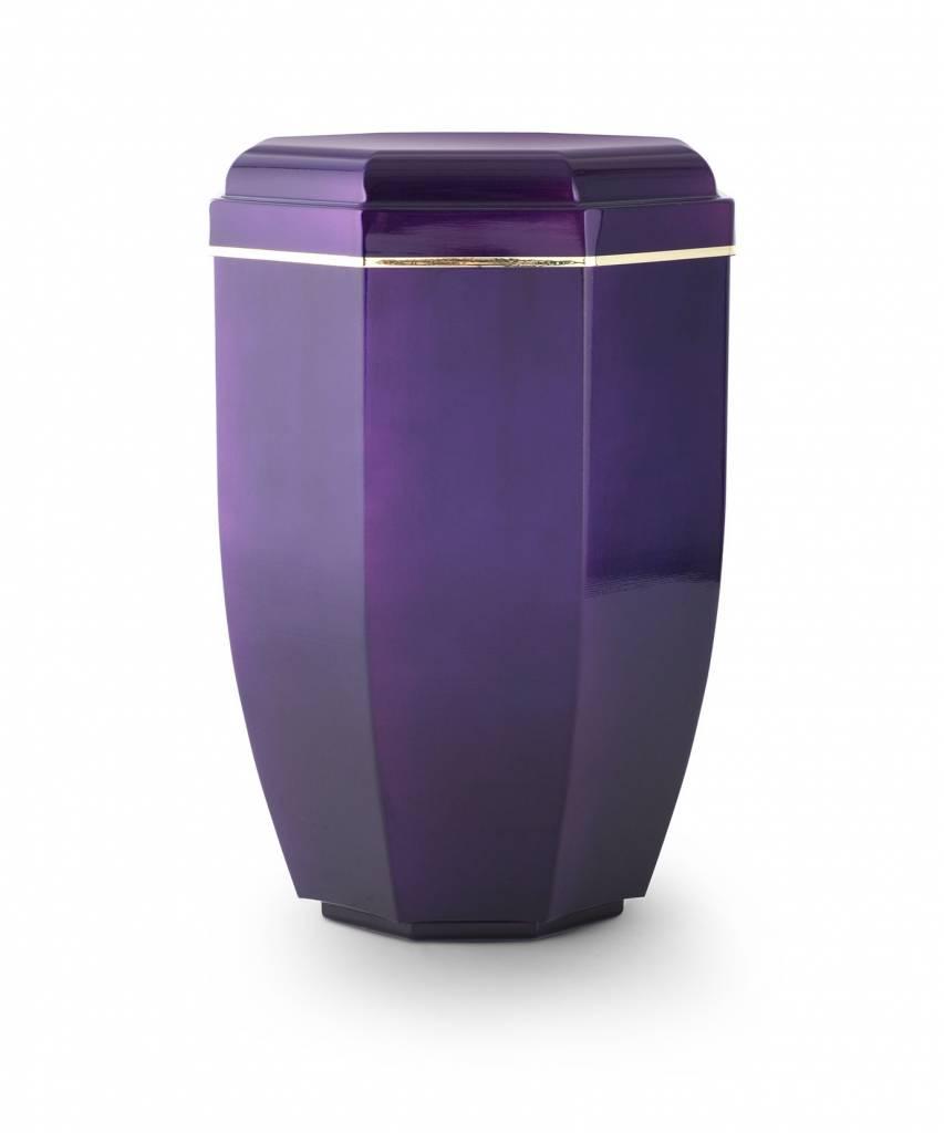 Moderne lila asbus met gouden sierring - koper