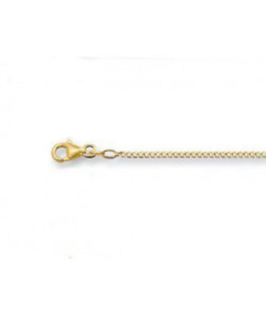 Gourmet halsketting 42 cm -1.8 mm - goud
