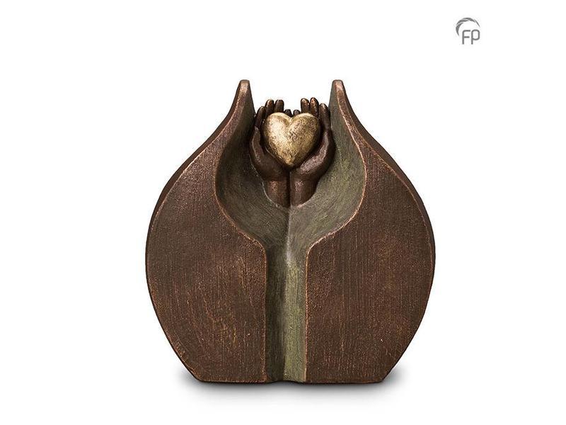 Geborgen liefde Duo urn - keramiek