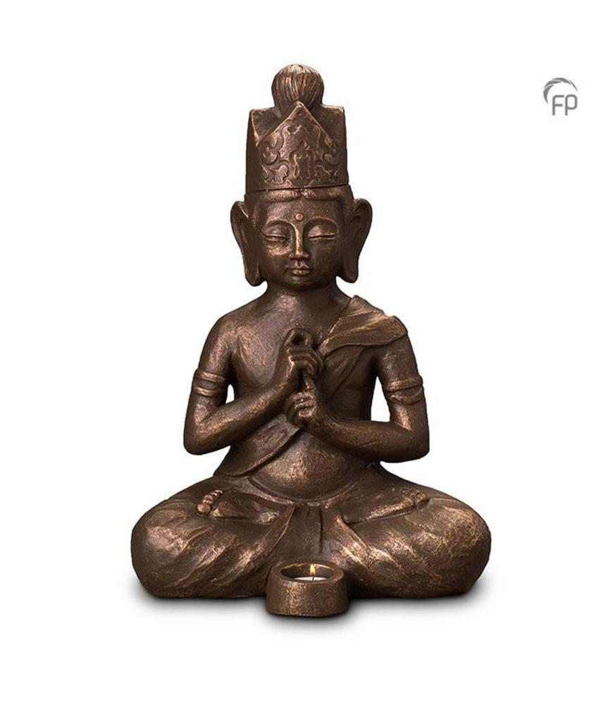 Buddha met kaarsje - keramiek