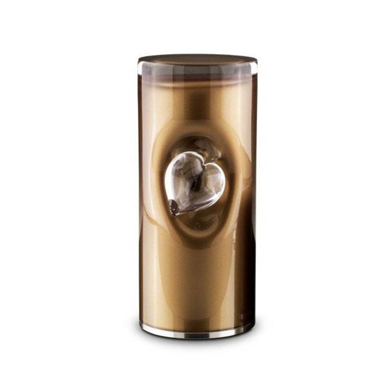 Cilinder urn bruin - glas