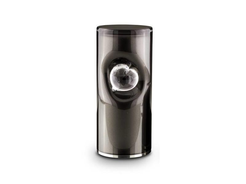 Cilinder urn zwart - glas