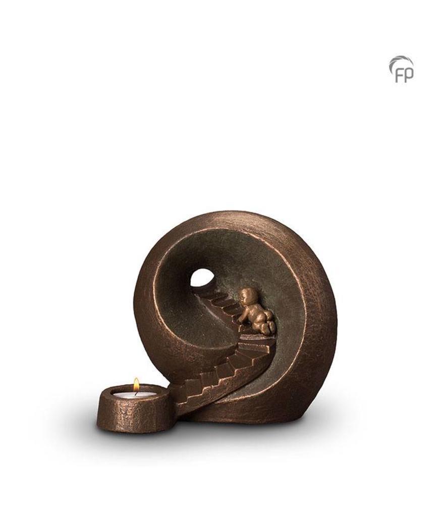 Baby urn oneindige tunnel met kaarsje - keramiek