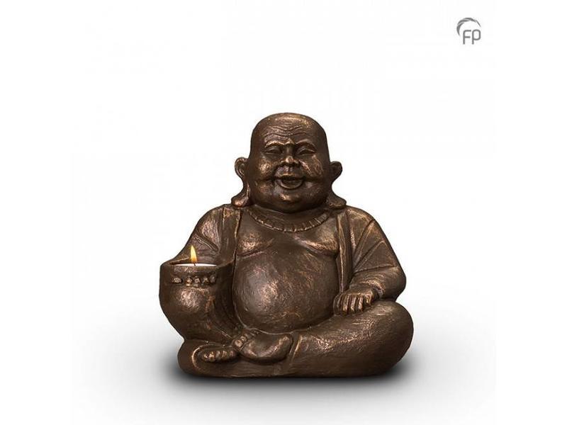Boeddha urn met kaarsje klein - keramiek