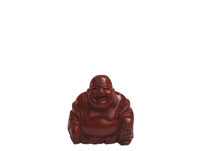 Buddha urn - Rode Jaspis