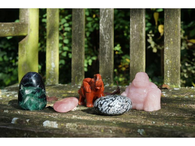 Buddha urn - Rozenkwarts
