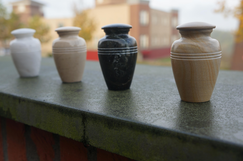 Mini urn wit - marmer