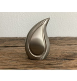 Teardrop pewter urn mini - messing