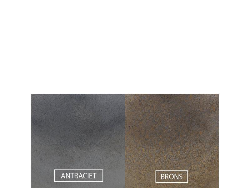 Keramische urn getailleerd medium met kaarsje - verkrijgbaar in 10 kleuren