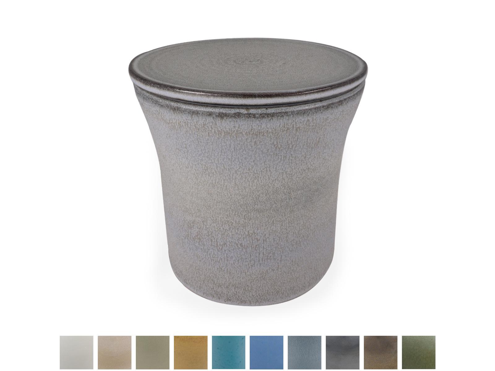 Keramische urn getailleerd medium - verkrijgbaar in 10 kleuren