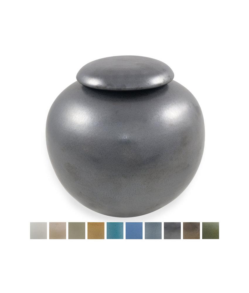 Keramische urn bol groot - verkrijgbaar in 10 kleuren