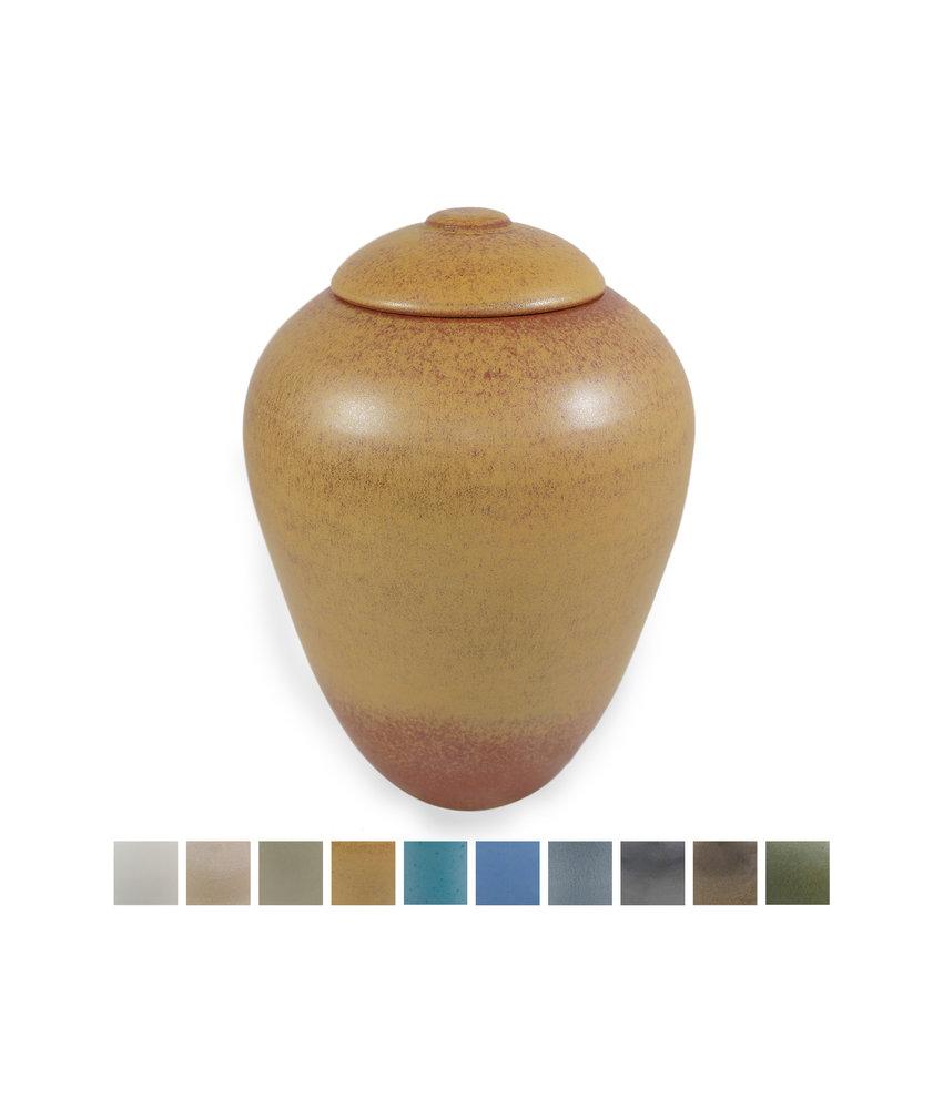 Keramische urn klassiek groot - verkrijgbaar in 10 kleuren
