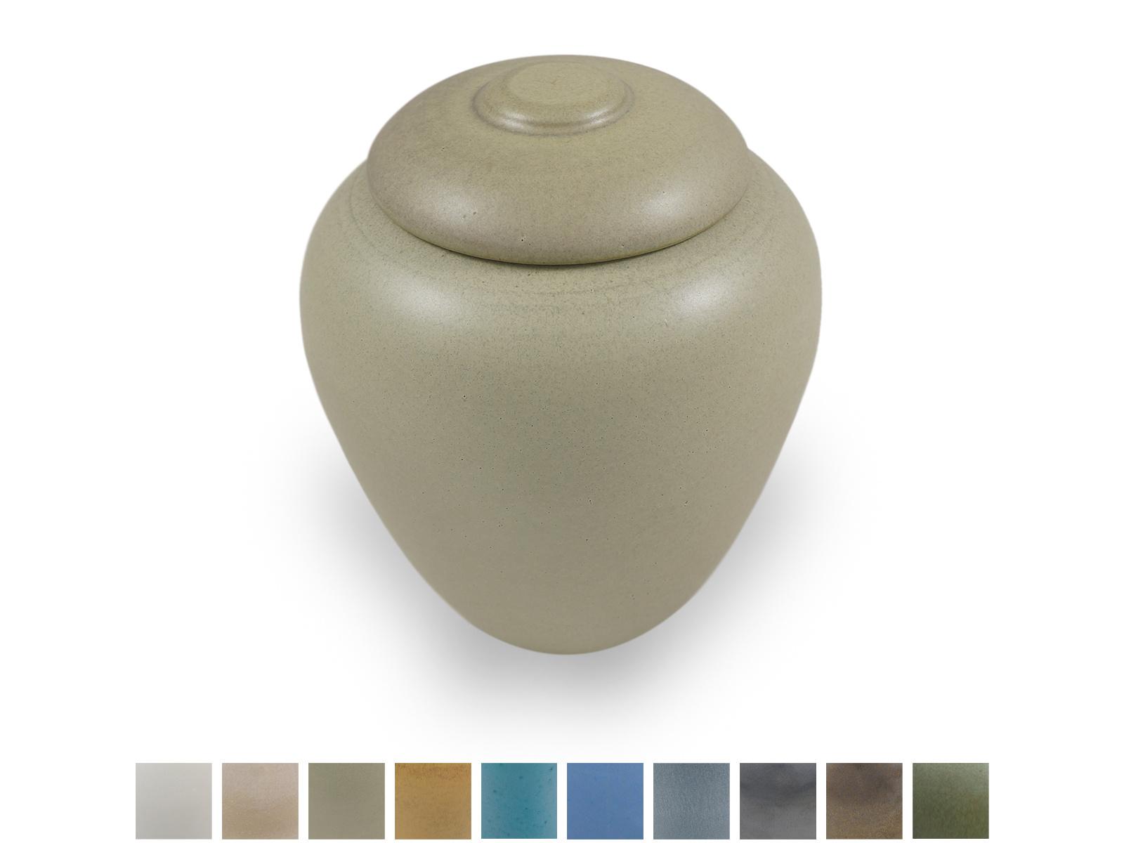 Keramische urn klassiek klein - verkrijgbaar in 10 kleuren