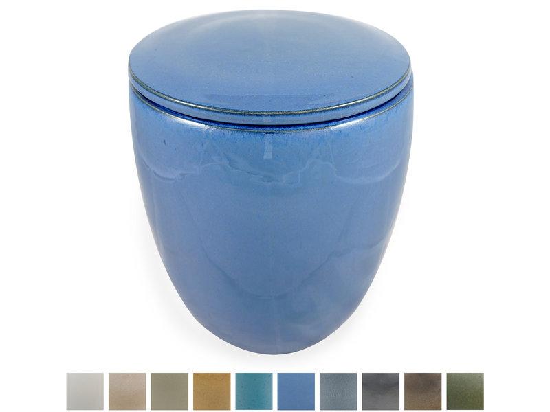 Keramische urn modern groot - verkrijgbaar in 10 kleuren