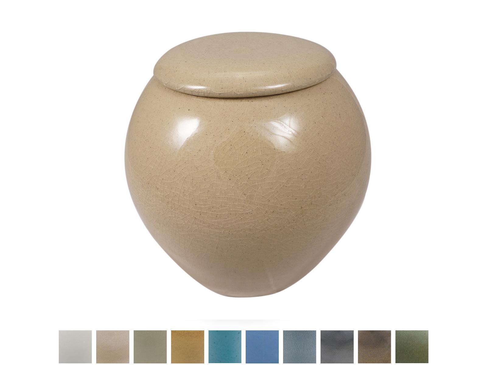 Keramische urn elegant medium - verkrijgbaar in 10 kleuren