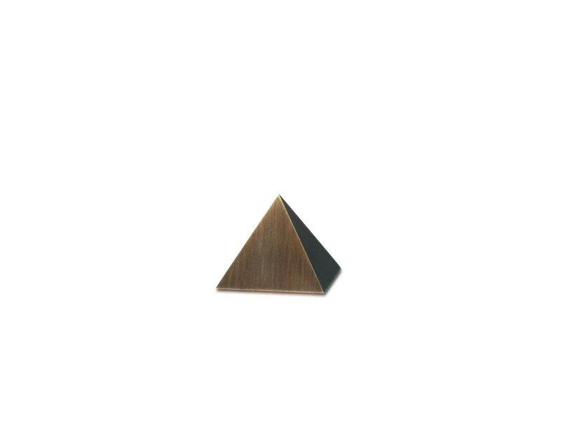 Mini urn piramide  - Messing