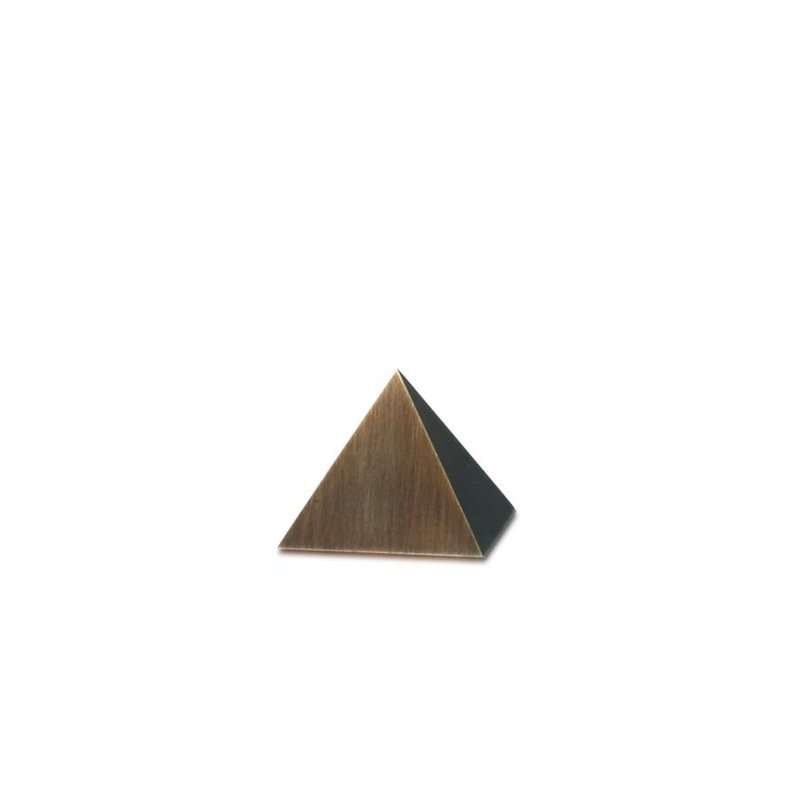 Mini urn piramide  - Messing
