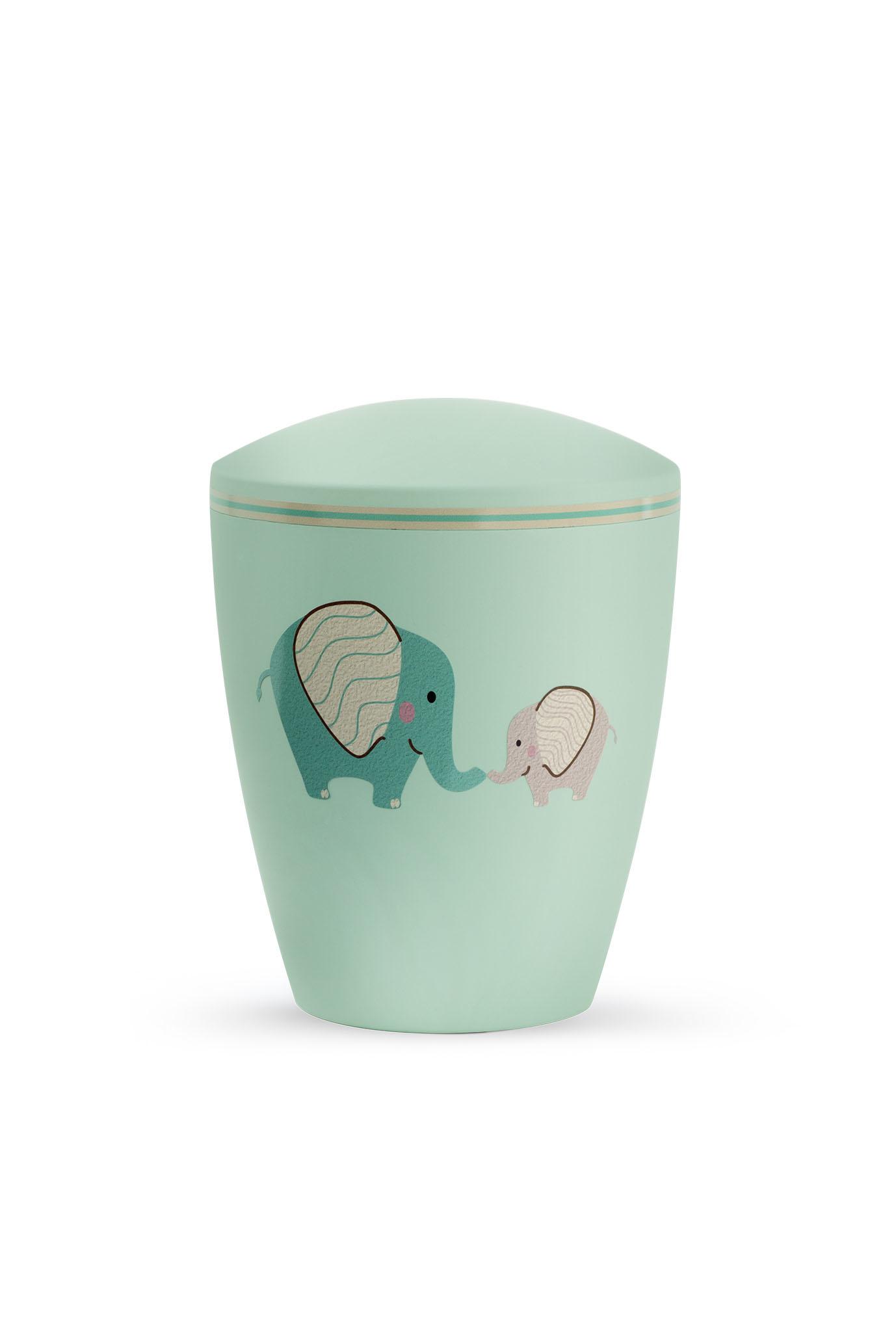 Kinder urn olifanten mintgroen - bio