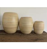 Bakka bamboe urn klein - hout