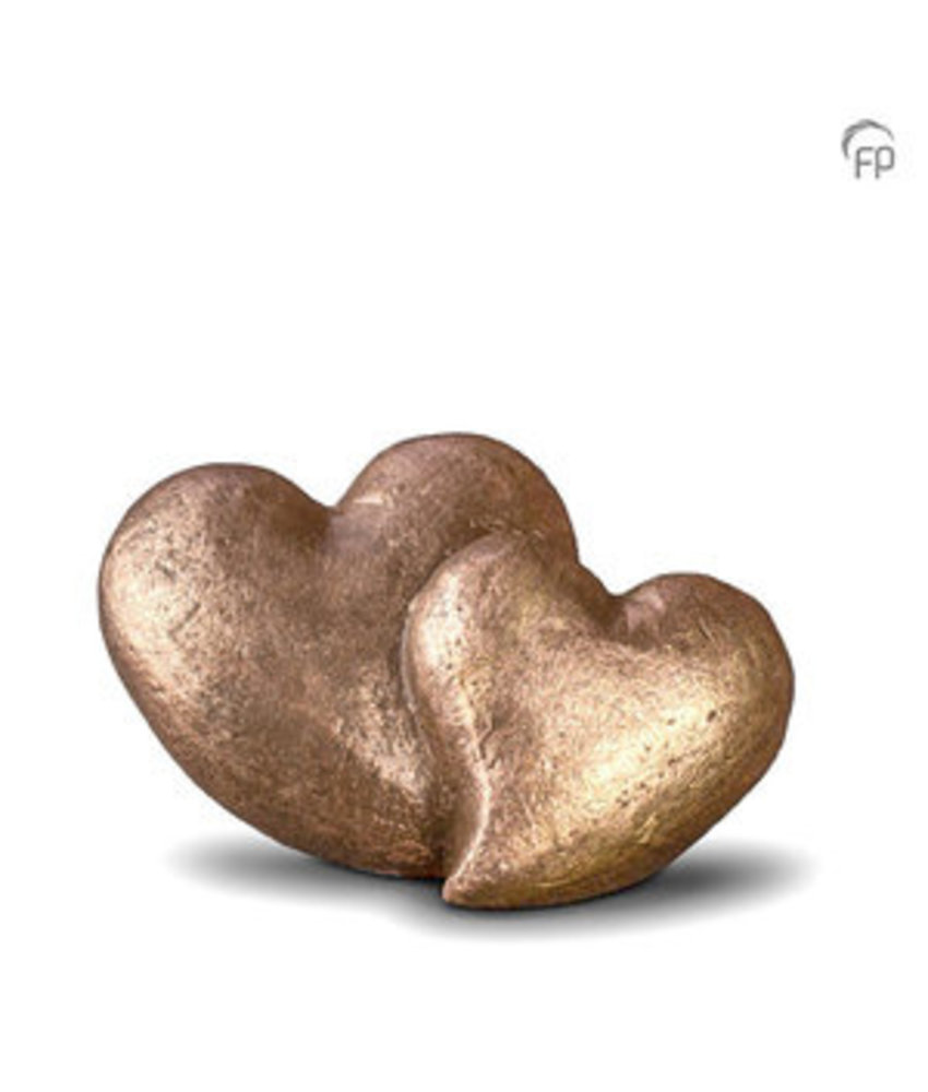 Mini urn verbonden hart - keramiek