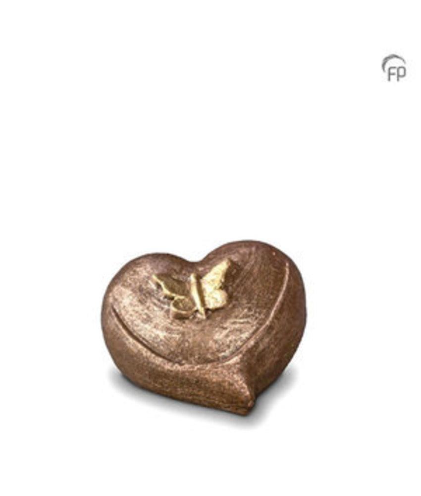 Mini urn vlinder in hart - keramiek