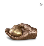 Mini urn hart in hand - keramiek