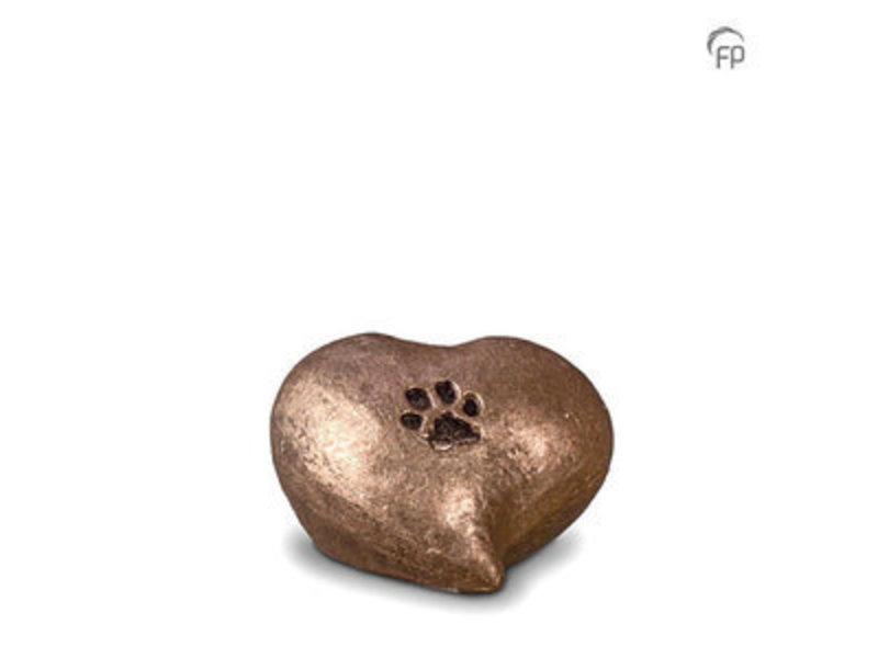 Mini dierenurn pootafdruk in hart - keramiek