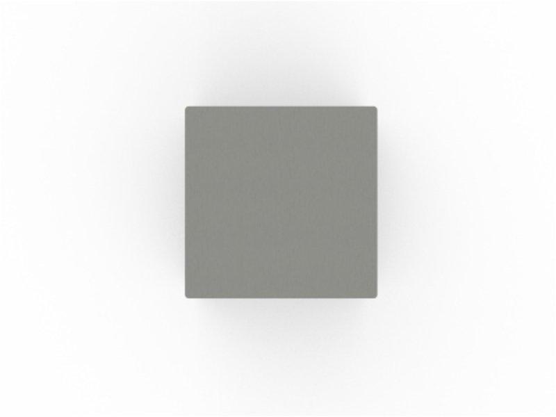 RVS urn kubus klein - RVS